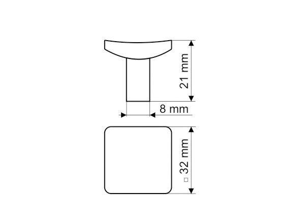 Gałka meblowa GG43 - chrom satynowy