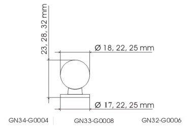 Gałka meblowa GN34 - chrom satynowy