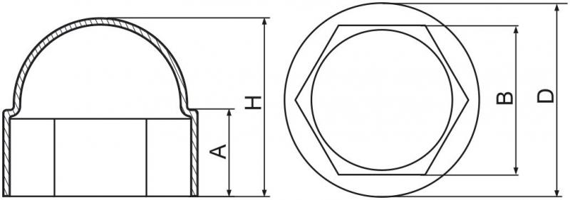 Maskownice śrub M12 - 100 szt