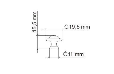 Gałka meblowa GP51 - chrom