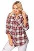 Koszula NOVA plus size w kratkę z guzikami na dekolcie
