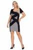 Czarna sukienka KOROLA plus size z krótkim rękawem