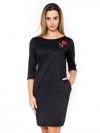 Sukienka-dzienna-r.44-plus-size-dla-puszystych-TUBA-czarna-Wyprzedaz