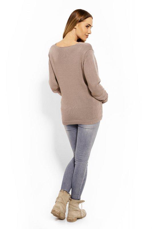e5014bdb28 Sweter Ciążowy Model 40002C Cappuccino - Odzież ciążowa - Odzież ...