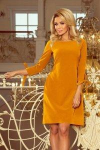 Elegancka sukienka S-XL SLICE 195-6 Musztardowa