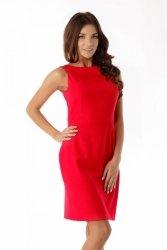 Dopasowana sukienka odcięta w pasie ED06-1 Red