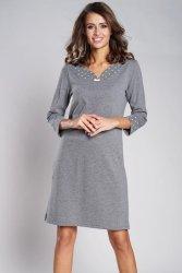 Koszula Nocna Model Damia r.3/4 Grey