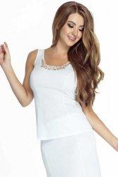 Koszulka damska PLUS SIZE 40-58 WHITE duże rozmiary