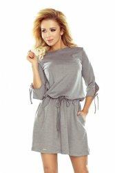 Sukienka dzienna XL EWA 176-1 Grey Melange