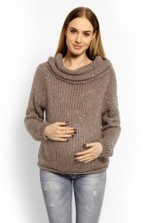 Sweter Ciążowy Model 60001C Mocca