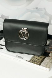 Elegancka nerka kopertówka MANZANA na każdą okazję 844A Black