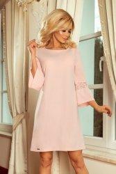 Elegancka sukienka L-XXL Margaret 190-1 Pastelowy róż