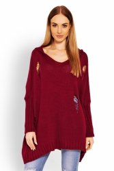 Sweter Damski Model 30055 Bordo