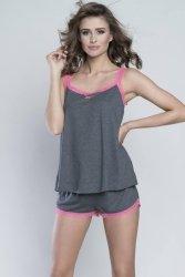 Piżama Damska Model Ellen ws.r. kr.sp. Melange/Pink