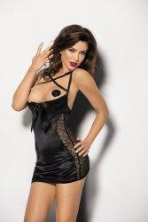 Koszulka damska erotyczna M-XXXL PLUS SIZE PEQUENA Black duże rozmiary