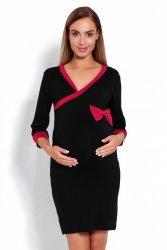 Koszula Nocna Ciążowa Model 1681 Black