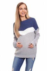 Sweter damski Ciążowy 40023 Jeans