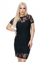 Sukienka wieczorowa S-XL 0113 Czarna Koronka