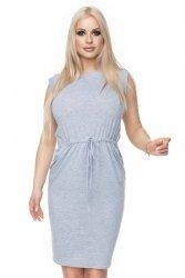 Sukienka dzienna S-XL 0122 szara
