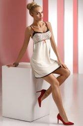 Koszulka Nocna Model Luiza Cream/Ecru