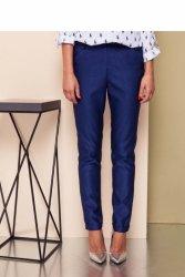 Klasyczne spodnie z wysokim stanem GR1485 Blue