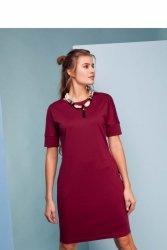 Klasyczna sukienka GR1364 Winny