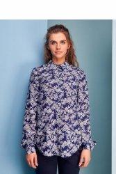 Elegancka bluzka z długim rękawem GR1249 Flowers