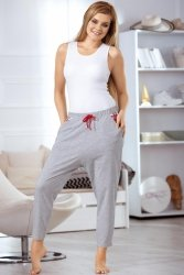 Spodnie Piżamowe Model 3063 Grey/Red