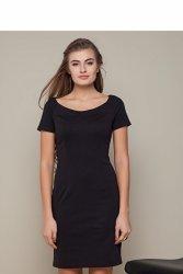 Klasyczna sukienka o prostym kroju GR1417 Black