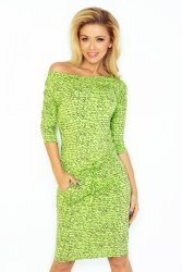 Sukienka dzienna 13-50 Light Green Napis