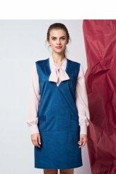 Sukienka sarafan o swobodnym kroju GR1199 Blue