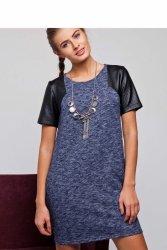 Sukienka z podwójnej dzianiny GR1320 Blue