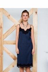 Sukienka z regulowanymi cienkimi ramiączkami GR1184 Blue