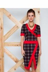 Sukienka dopasowana do sylwetki GR1307 Red