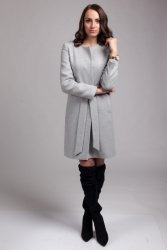 Płaszcz damski PLA026 gray