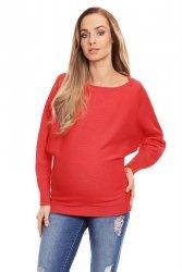 Sweter ciążowy 70003C Neonowy Koral