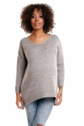 Sweter model 30045C Light Gray