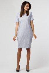Sukienka dzianinowa B-031 Gray Melange