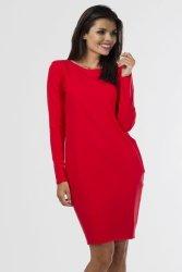 Sukienka dresowa D-020 Red