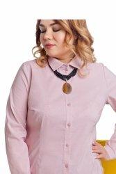 Bawełniana damska modna bluzka TR1817_1 Pudrowy