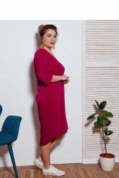 Sukienka dzienna plus size 48-52 Liliowa
