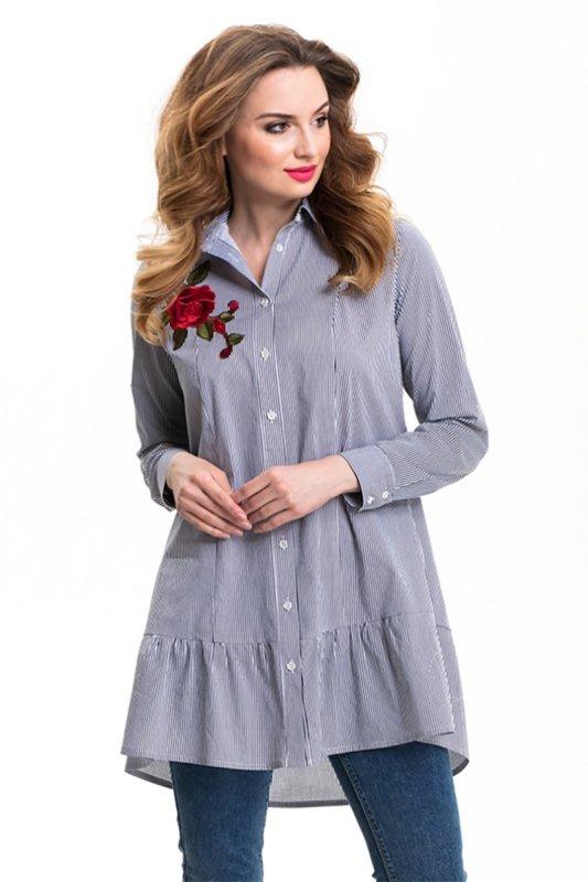 Koszula-Damska-Model-M-BL-3I-Navy-odziez-damska-XXL-plus-size-sklep-internetowy-online