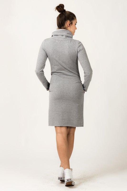 Sukienka Model Kaja 7 Light Grey/White