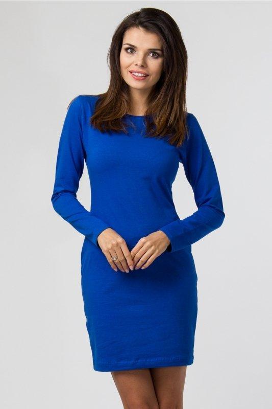 Sukienka dzianinowa M-033 Cornflower