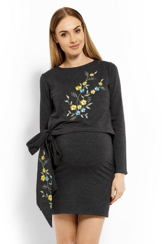 Sukienka Ciążowa Model 1624C Grafit