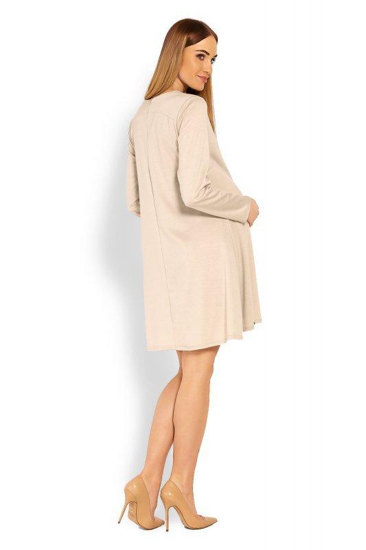 Sukienka Ciążowa Model 1359C Beige