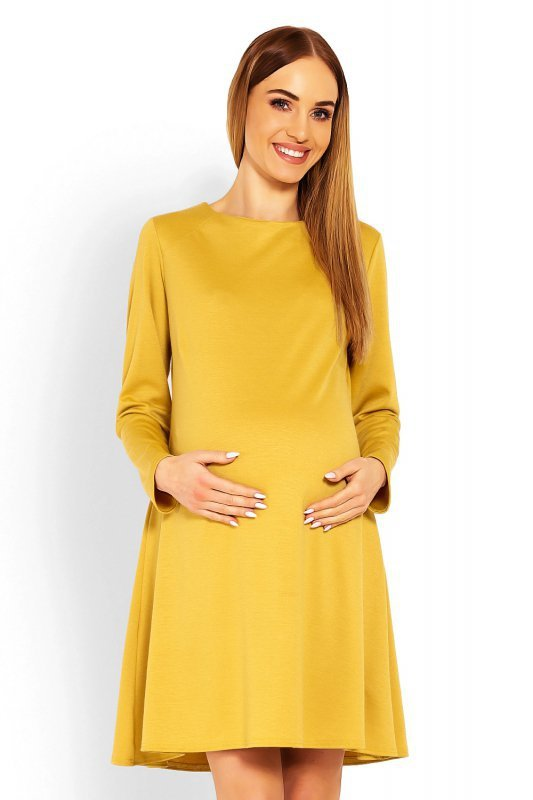 Sukienka Ciążowa Model 1359C Musztard