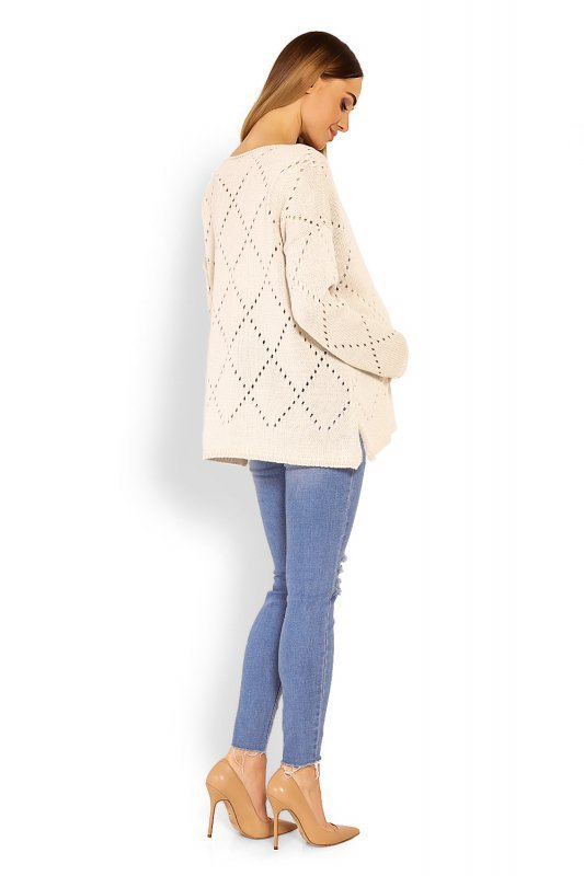 Sweter Ciążowy Model 30058C Beige