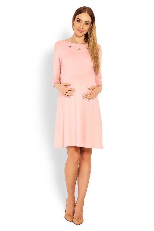 Sukienka Ciążowa Model 1631C Pink