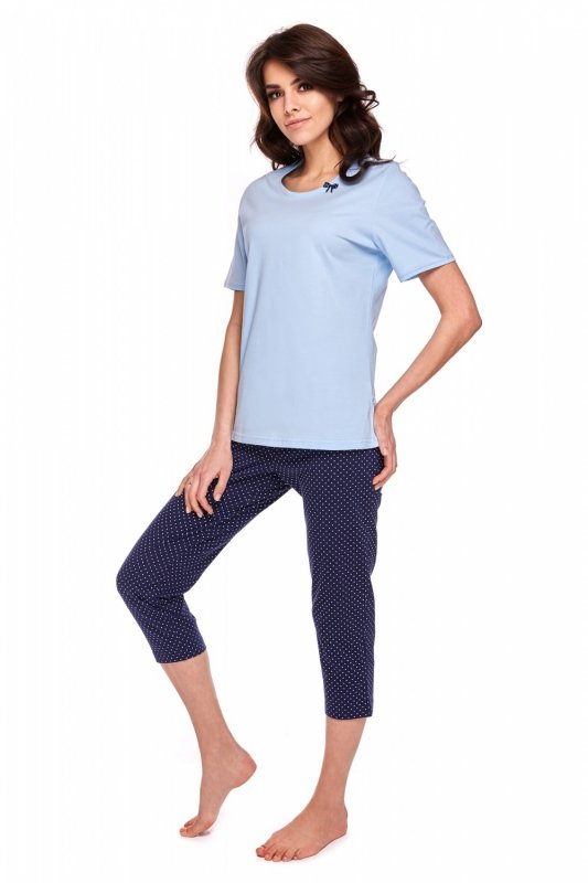 Piżama Damska Model Kristeen 316 kr.rękaw Blue/Navy